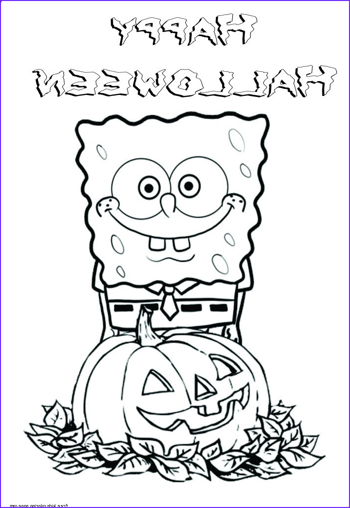 Free Cartoon Coloring Page Awesome Photos Printable Halloween Spongebob Coloring Pagesfree Printable