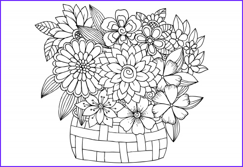 advanced flower coloring pages 4