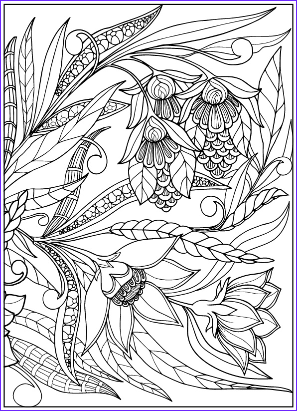 Vintage Flower Coloring Pages