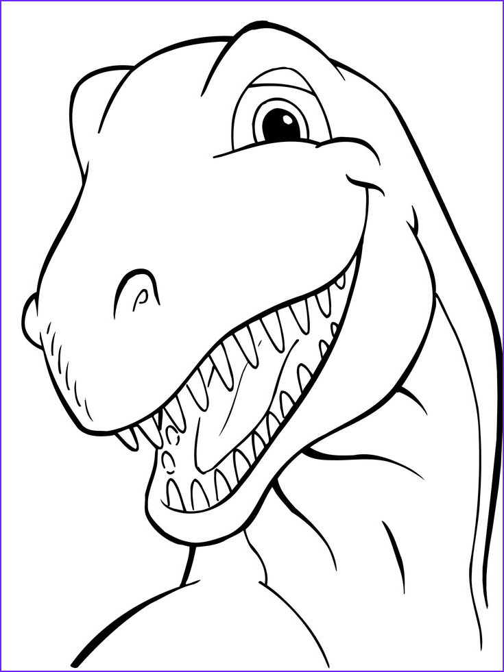 Free Coloring Page Of Dinosaurs Best Of Photos Head Dinosaurs Coloring Picture for Kids