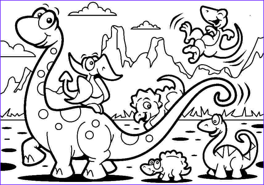 Free Coloring Page Of Dinosaurs Luxury Stock Stunning Coloring Free Dinosaur Coloring Pages In Dinosaur