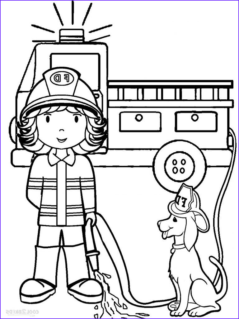 Free Fire Truck Coloring Page Printable Awesome Image Free Printable Preschool Coloring Pages