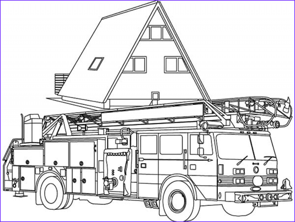 fire truck coloring pages free to print