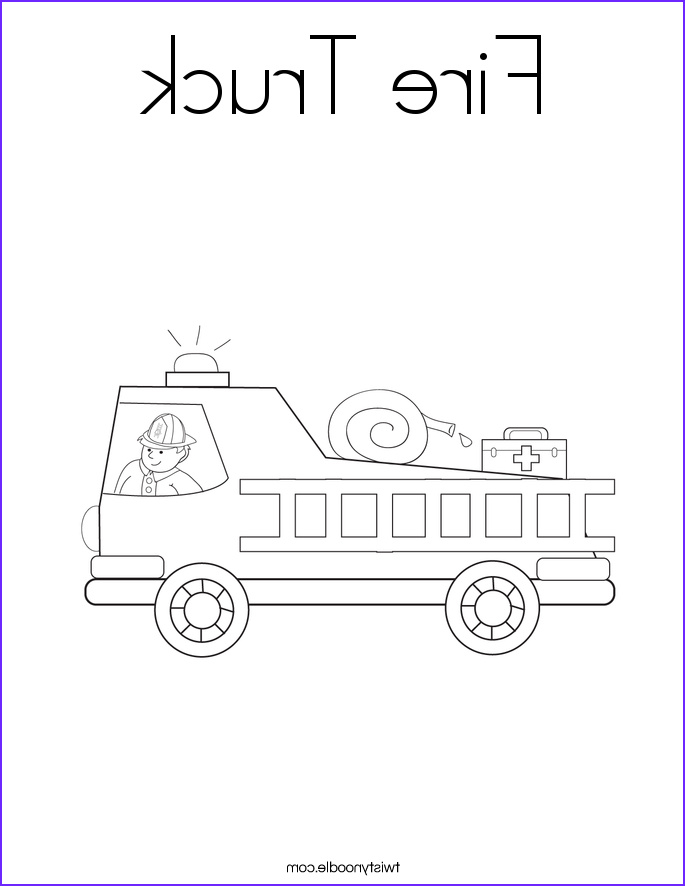 fire truck 4 coloring page