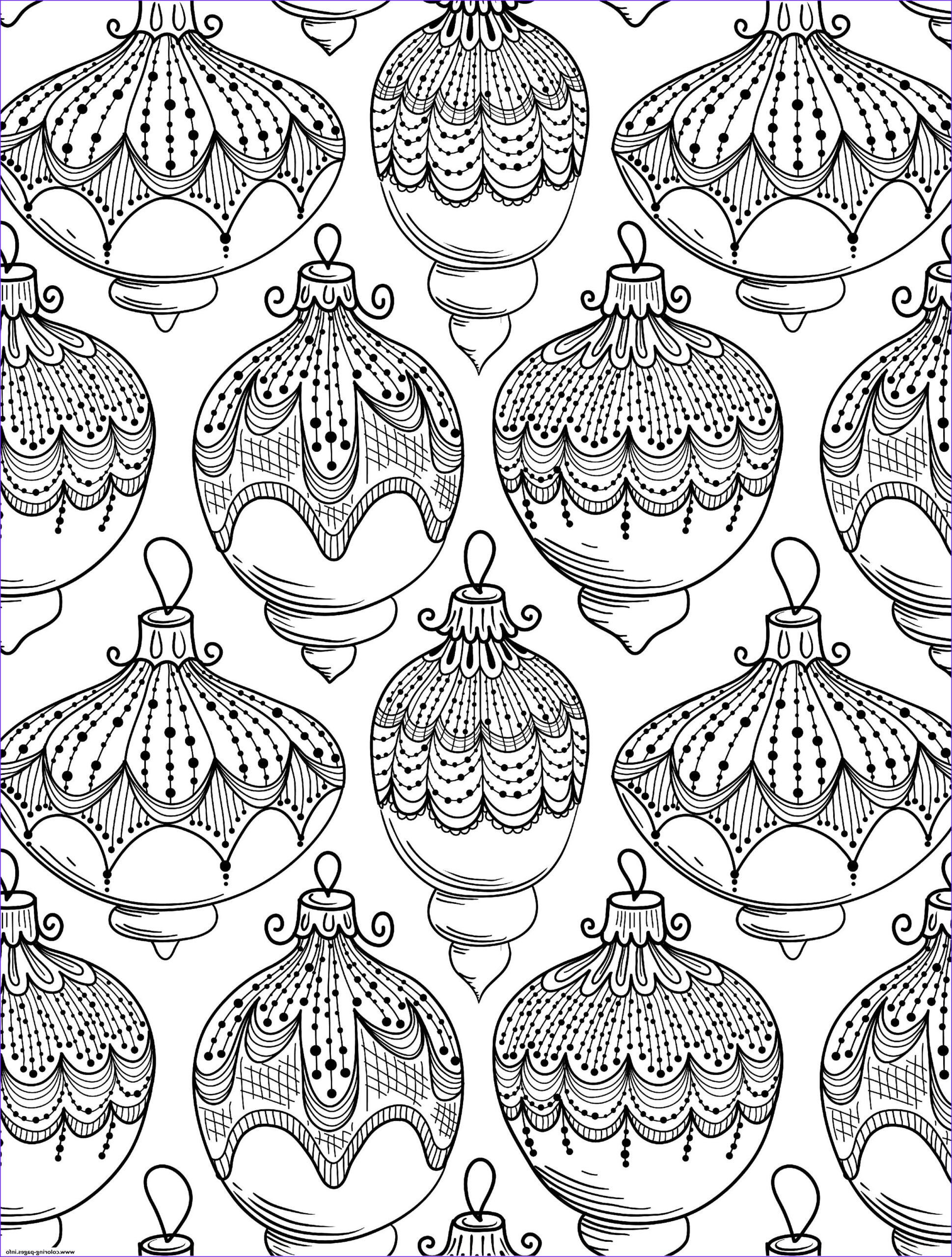 christmas adult ball adult printable coloring pages book