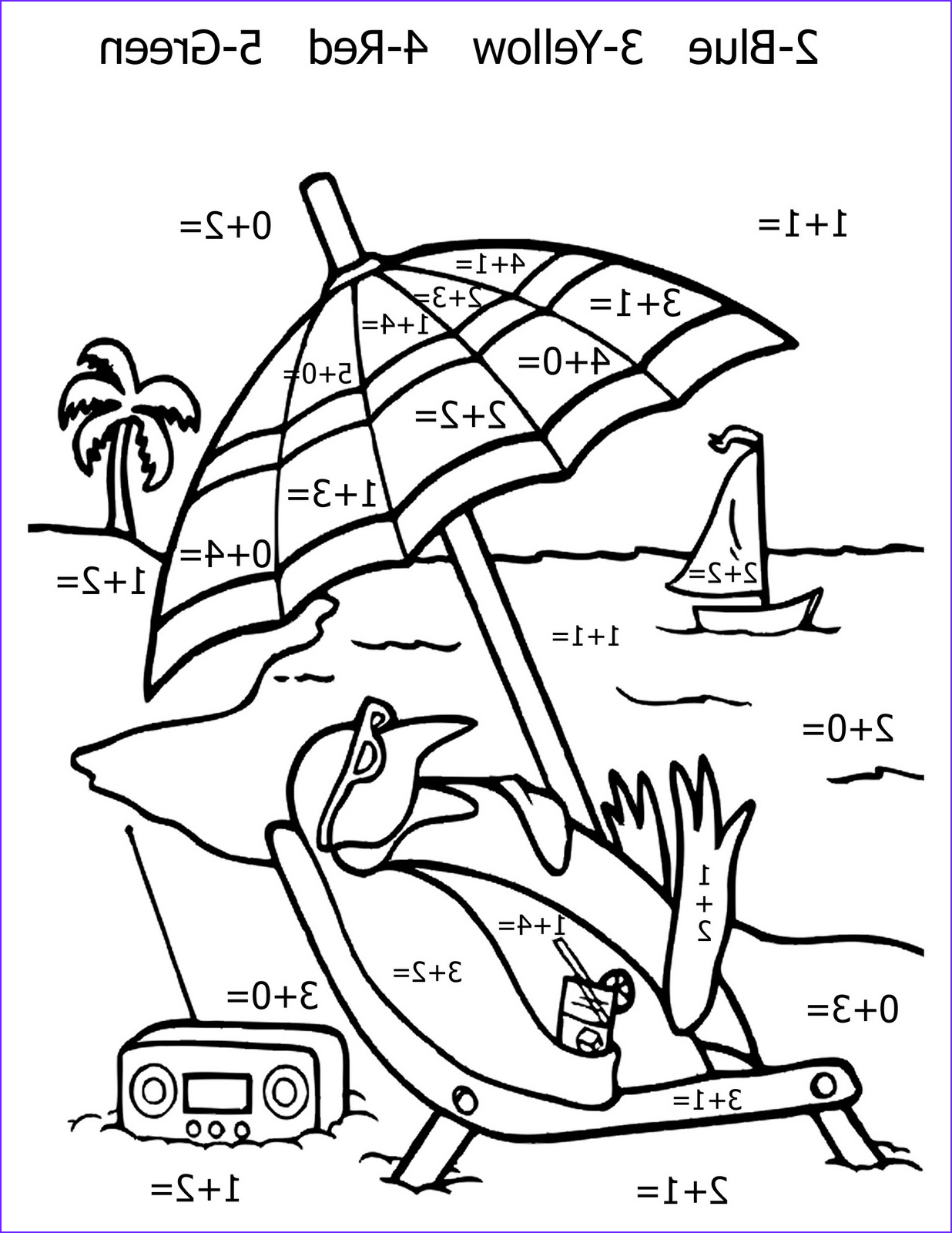 free printable math coloring pages kids