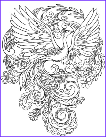 Free Peacock Coloring Page Beautiful Collection Peacock In Flowers Coloring Page