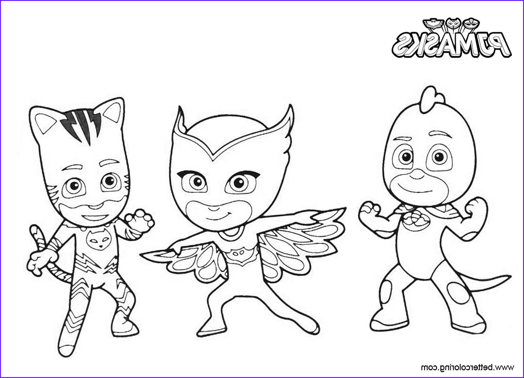 catboy coloring pages pj masks characters