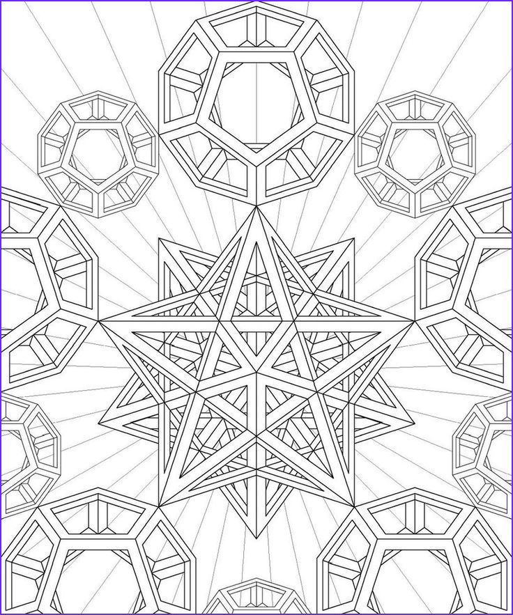 fractal coloring pages