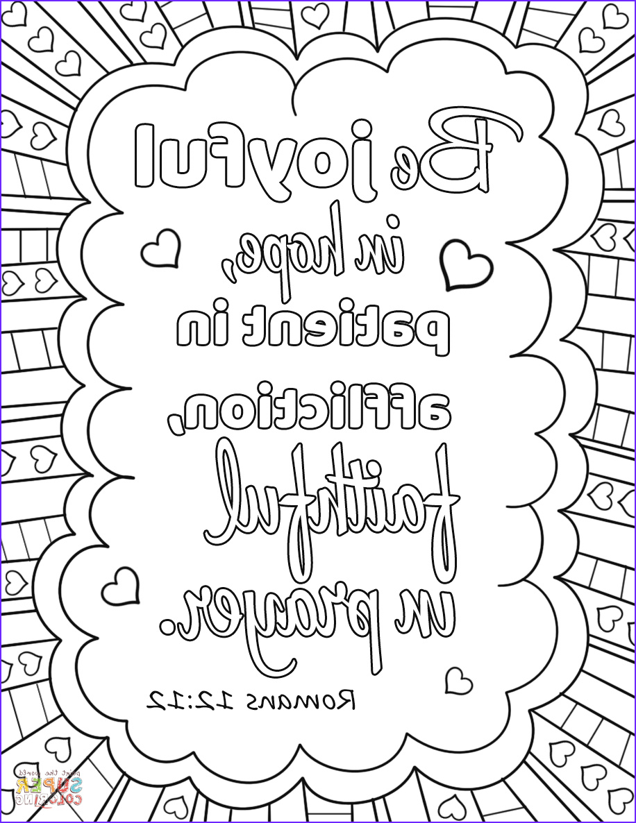 Free Printable Coloring Page On Prayer Luxury Image Be Joyful In Hope Patient In Affliction Faithful In