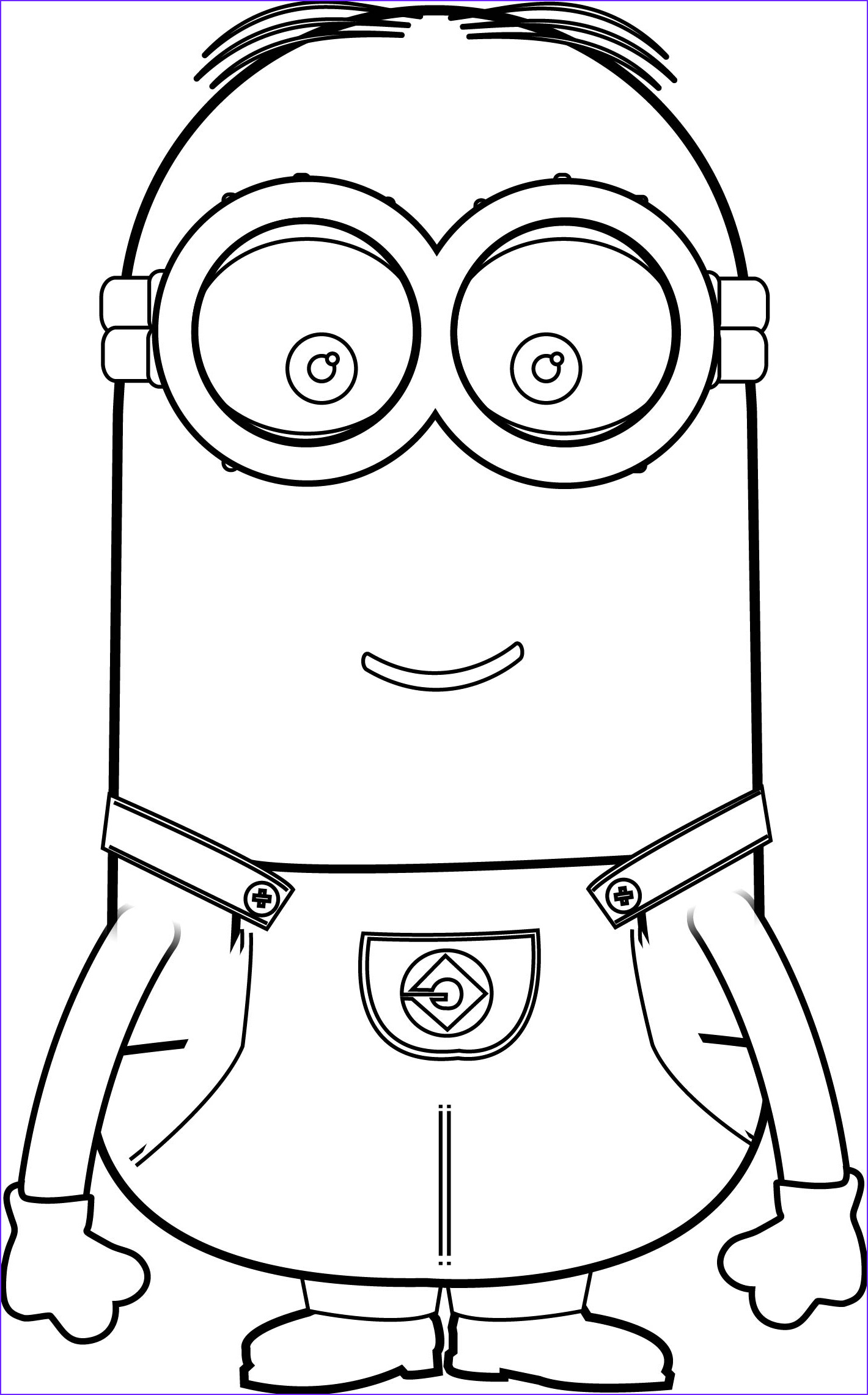 Free Printable Minion Coloring Page Beautiful Gallery Minions Coloring Pages Kevin
