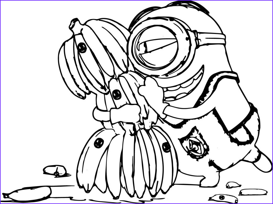 Free Printable Minion Coloring Page Cool Stock Minion Coloring Pages Best Coloring Pages for Kids