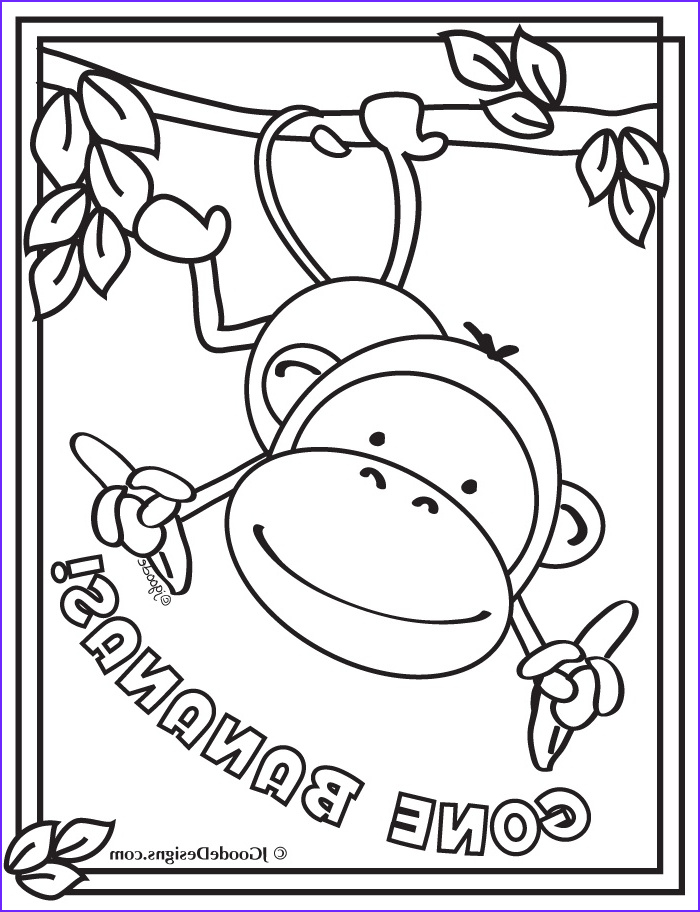 Free Printable Monkey Coloring Page Awesome Collection 17 Best Images About Rainforest Jungle Safari theme On