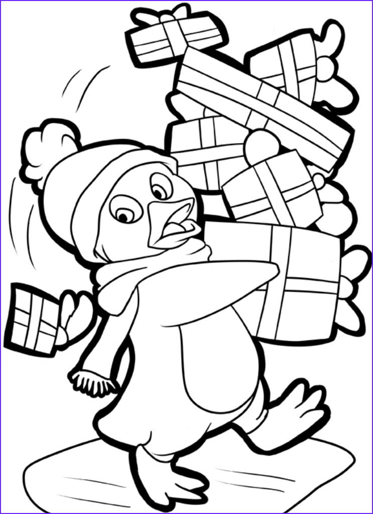 Free Printable Penguin Coloring Page New Image Full Size Christmas Coloring Pages at Getcolorings