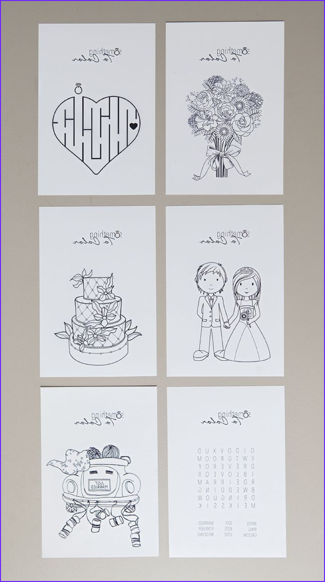 Free Printable Wedding Coloring Book New Photography Print these Free Coloring Pages for the Kids at Your