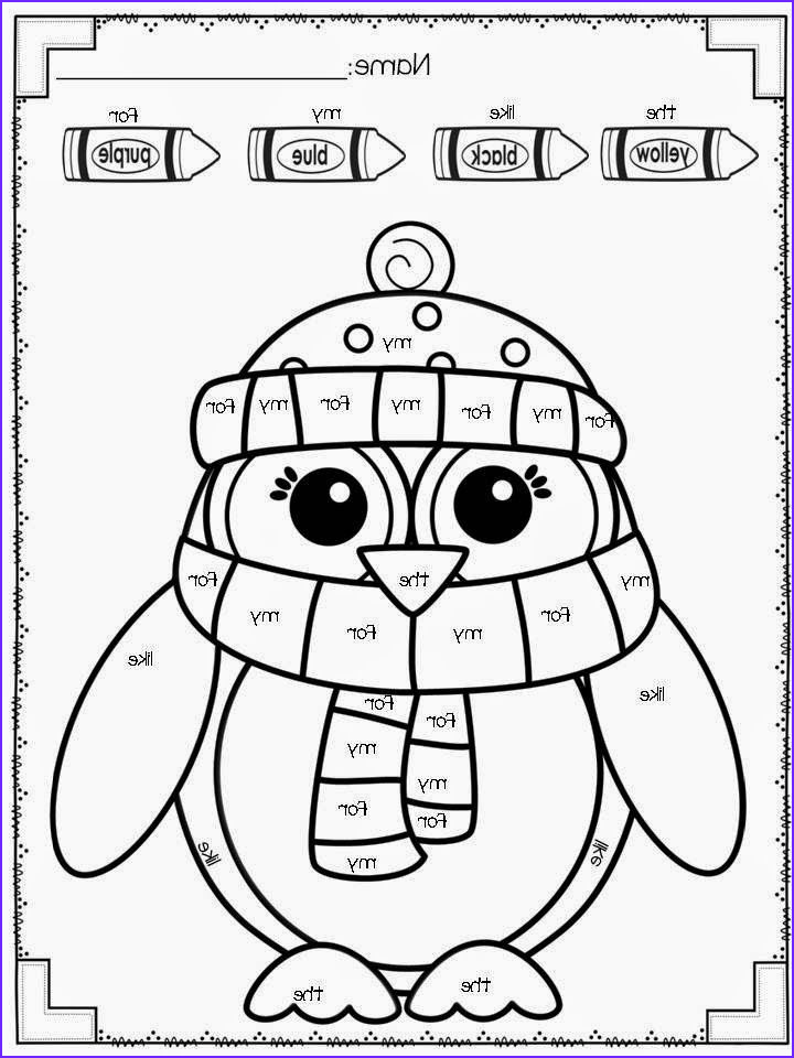 Free Sight Word Coloring Page Awesome Collection Freebie Winter Color by Sight Word