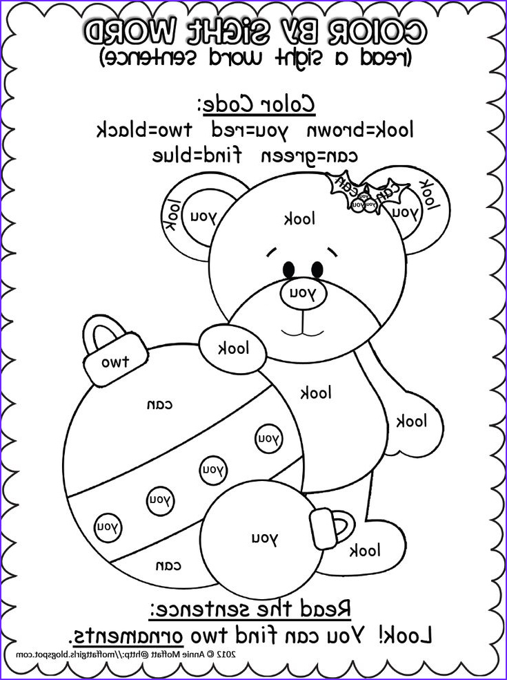 Free Sight Word Coloring Page Beautiful Collection Christmas Color by Sight Word Sentences Pre Primer