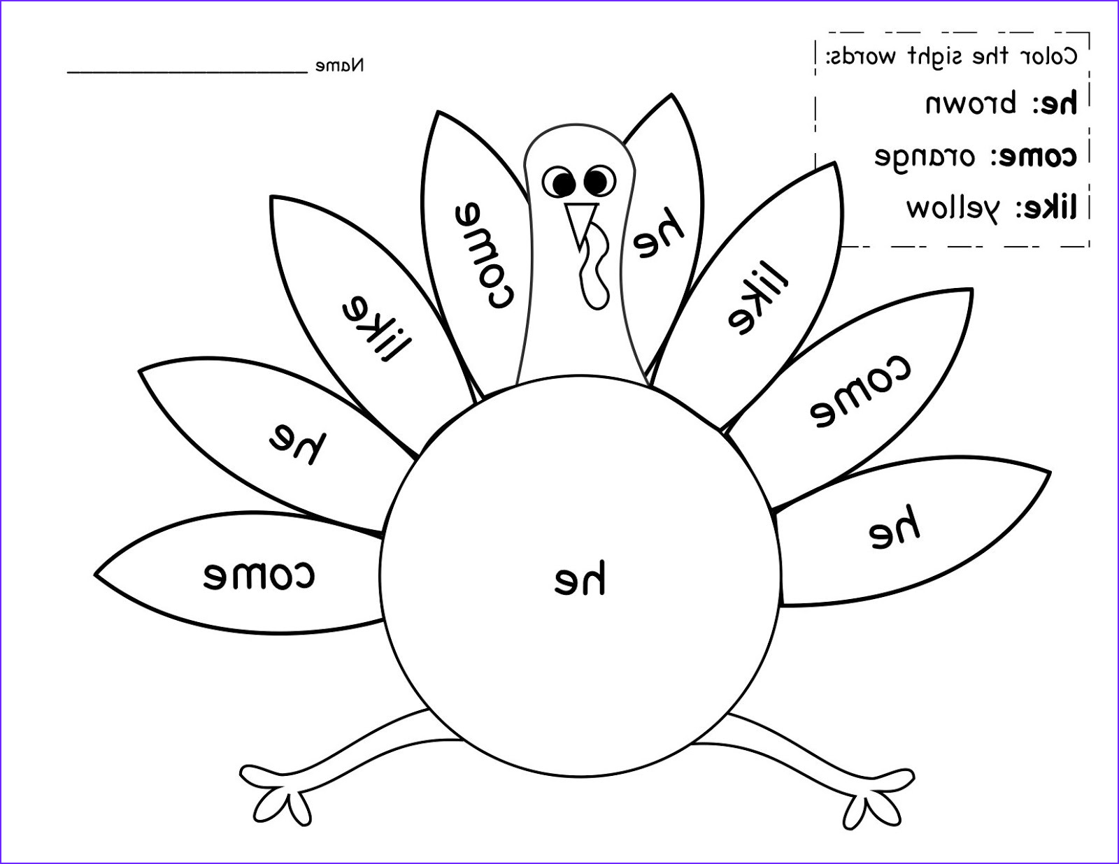 Free Sight Word Coloring Page Beautiful Stock Kinder Learning Garden November Sight Word Freebie