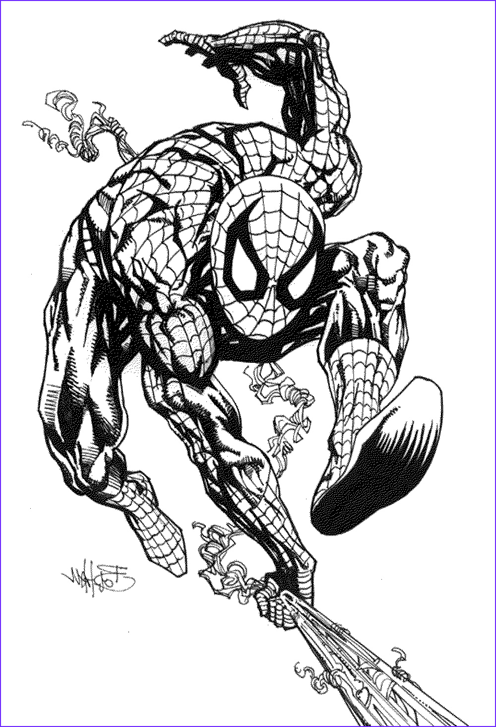 spiderman coloring pages enjoyable way learn color