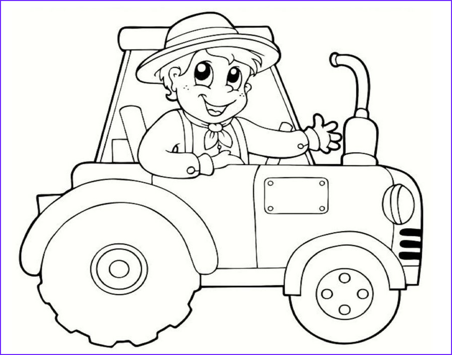 Free Tractor Coloring Page New Photos Tractor and Wagon Coloring Pages חיפוש ב Google