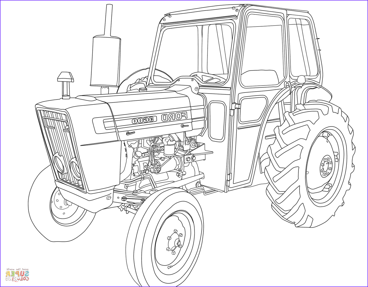Free Tractor Coloring Page Unique Images Tractor ford 3600 Coloring Page