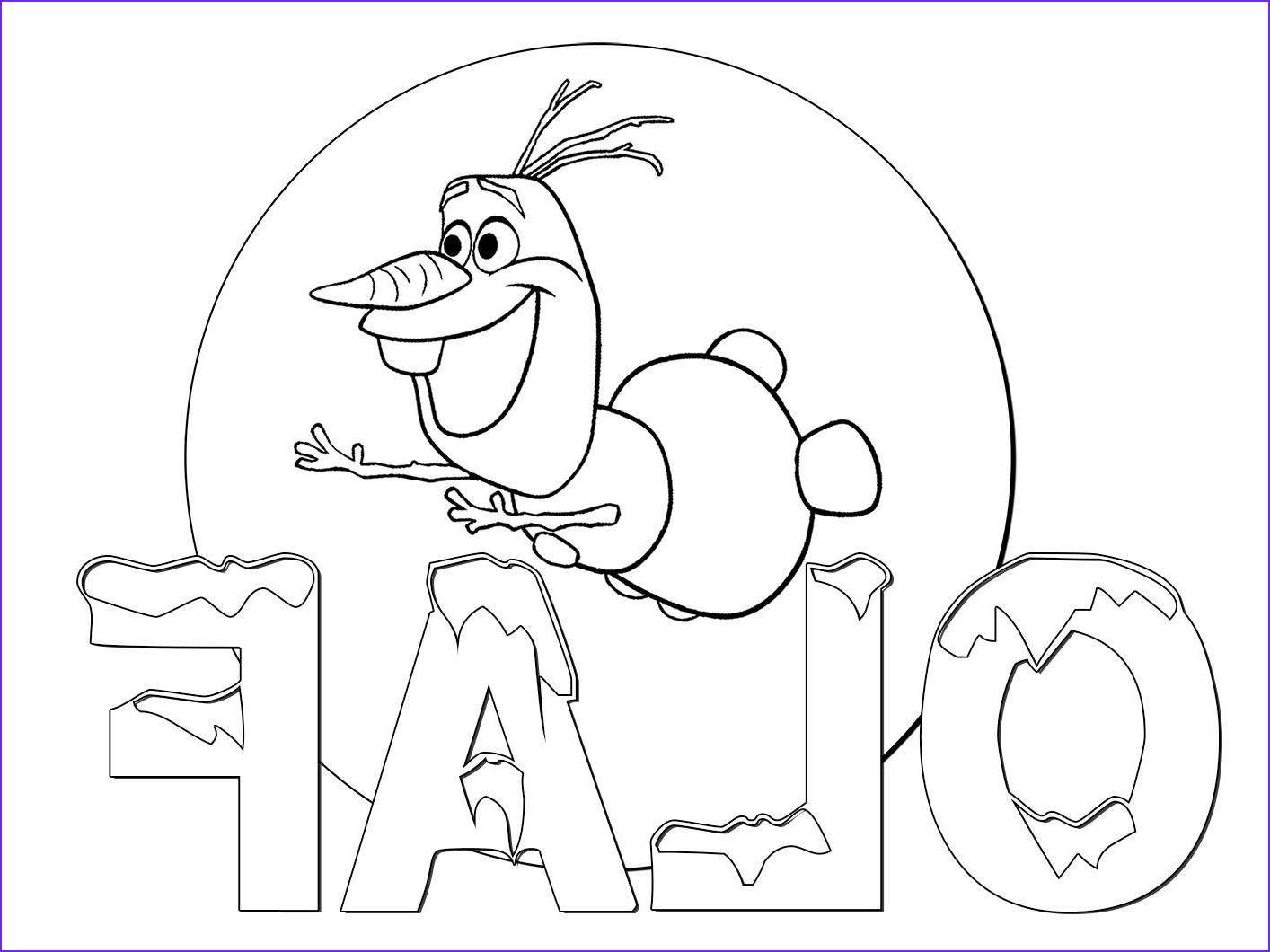 Frozen Coloring Page Olaf Luxury Images Olaf Free Coloring Page