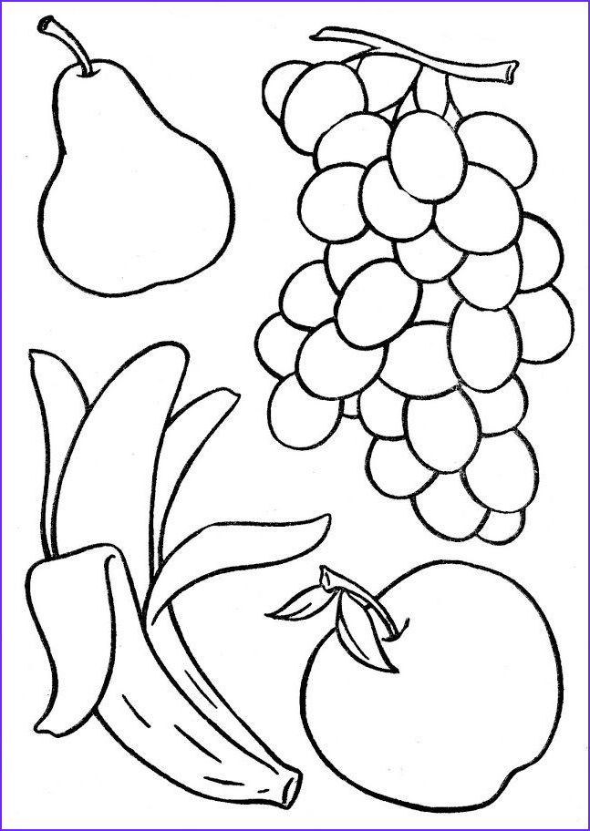 Fruits Coloring Page Awesome Collection Basketful to Color Children S Coloring Books ♡