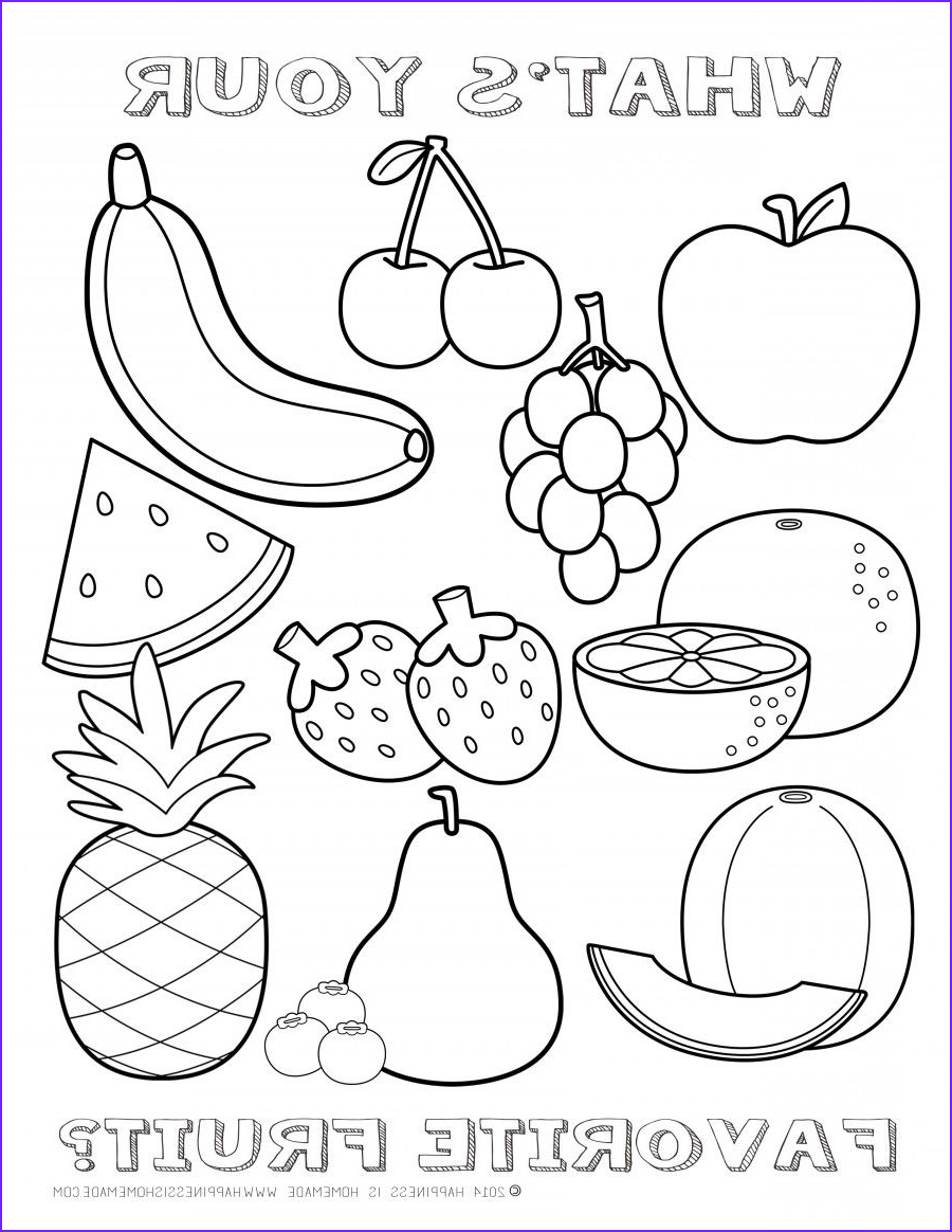 Fruits Coloring Page Luxury Photos Free Fruit Coloring Page Happiness is Homemade