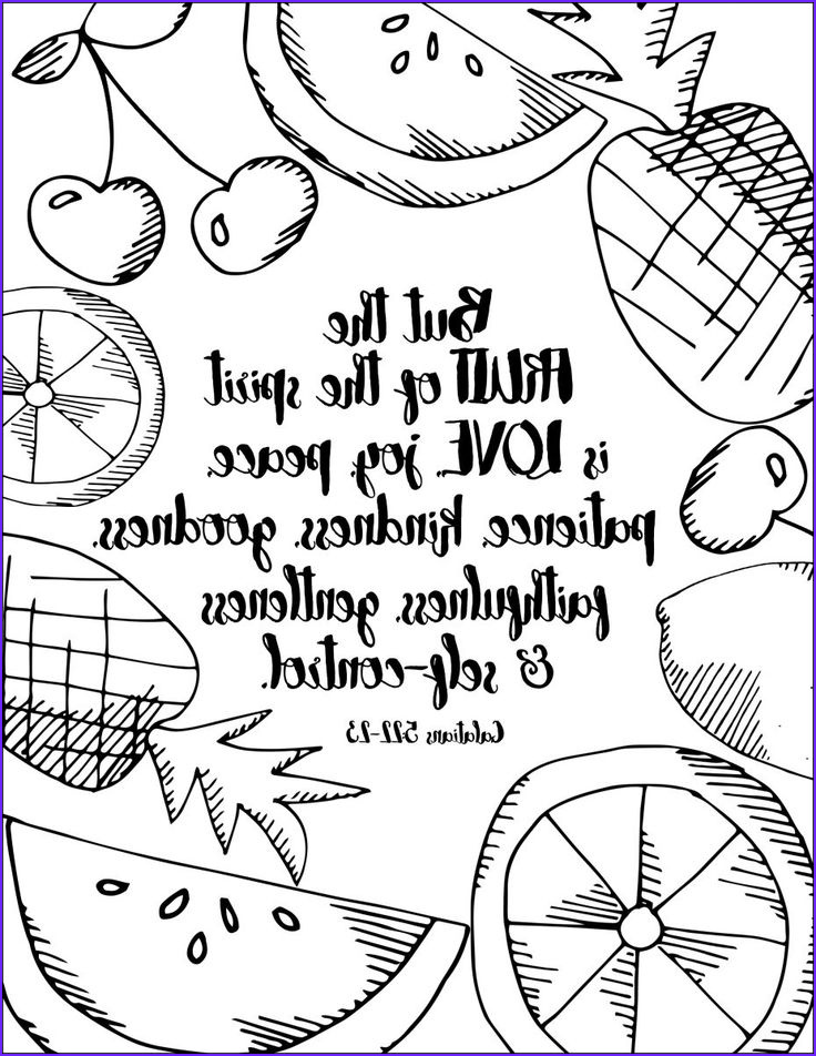 Fruits Of the Spirit Coloring Page Awesome Stock Summer Inspired Free Coloring Pages with Bible Verses