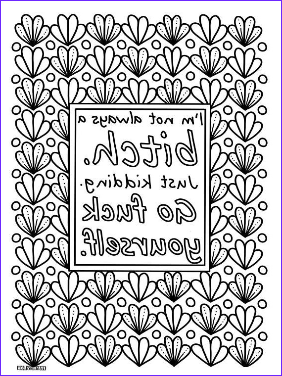 Funny Adult Coloring Page Unique Photos Sassy Sayings Printable Coloring Book for Adults Curse