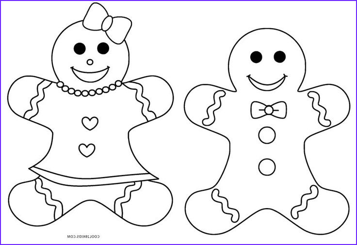 gingerbread colour pages