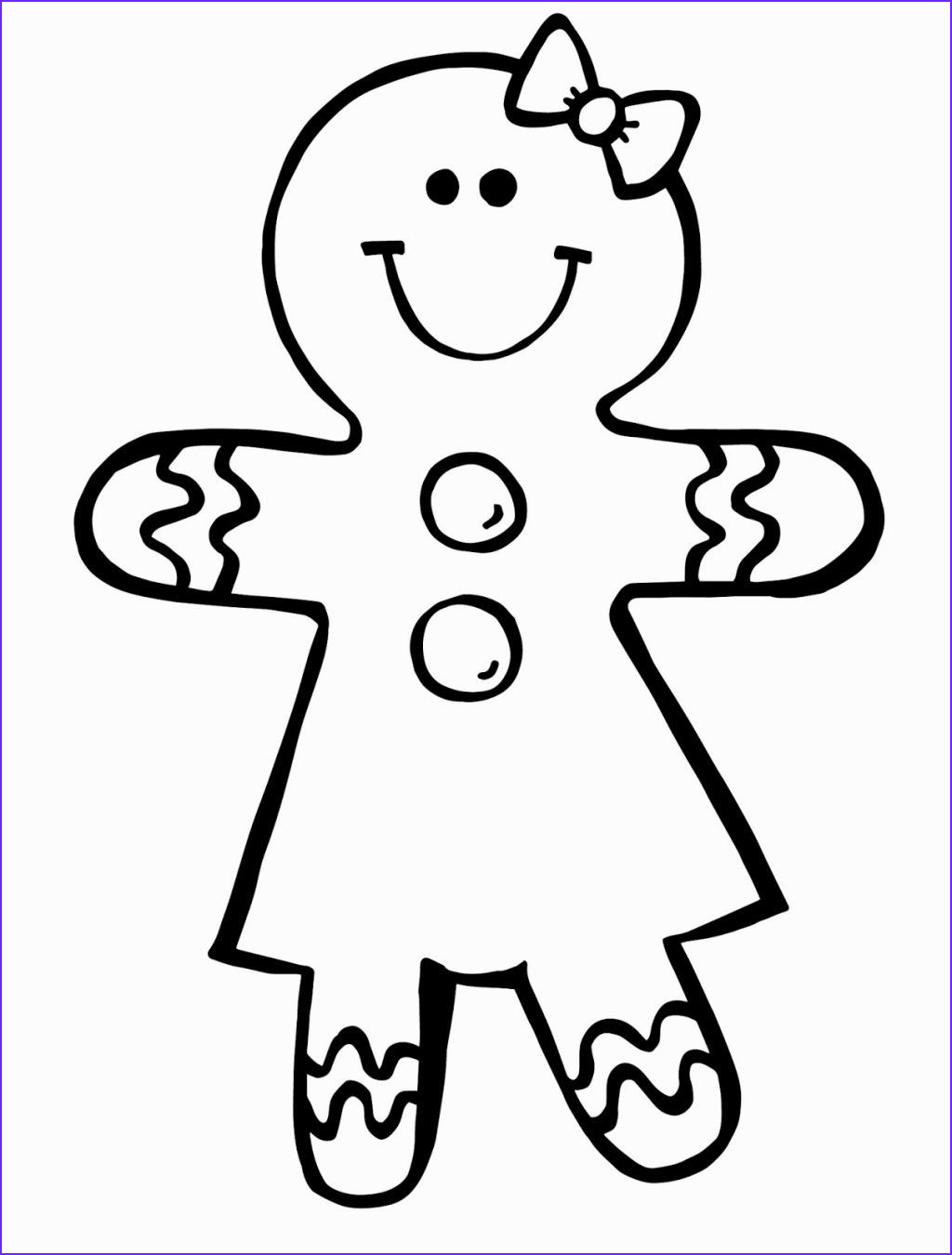 Gingerbread Coloring Page Beautiful Collection Gingerbread Girl Coloring Pages