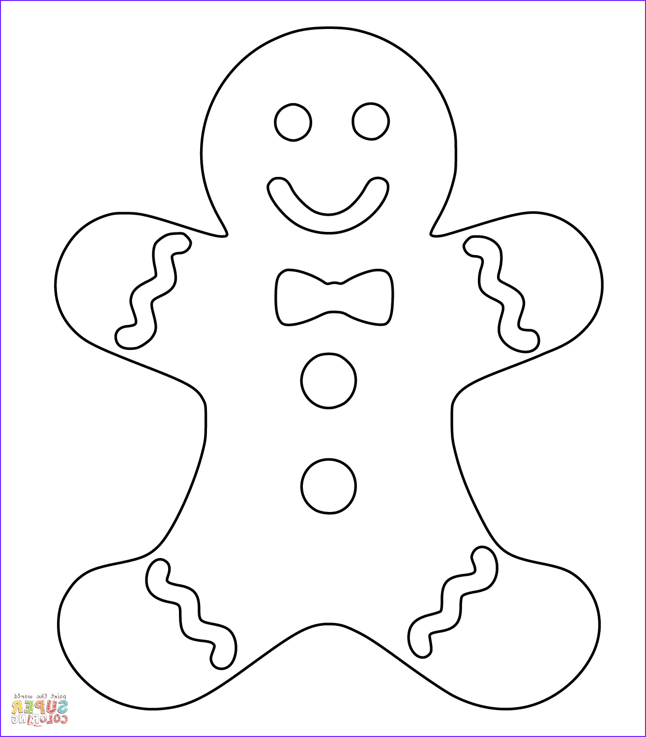 Gingerbread Coloring Page Cool Gallery Christmas Gingerbread Man Coloring Page