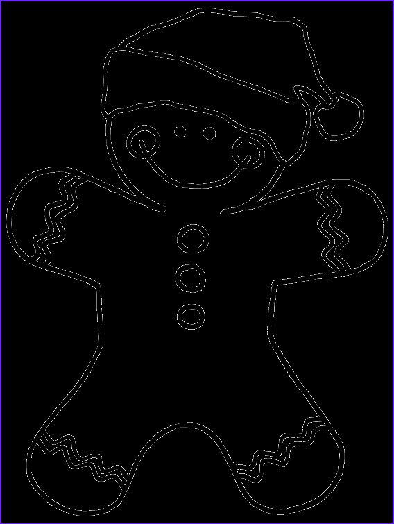 Gingerbread Coloring Page Unique Stock Free Gingerbread Man Digital Stamp