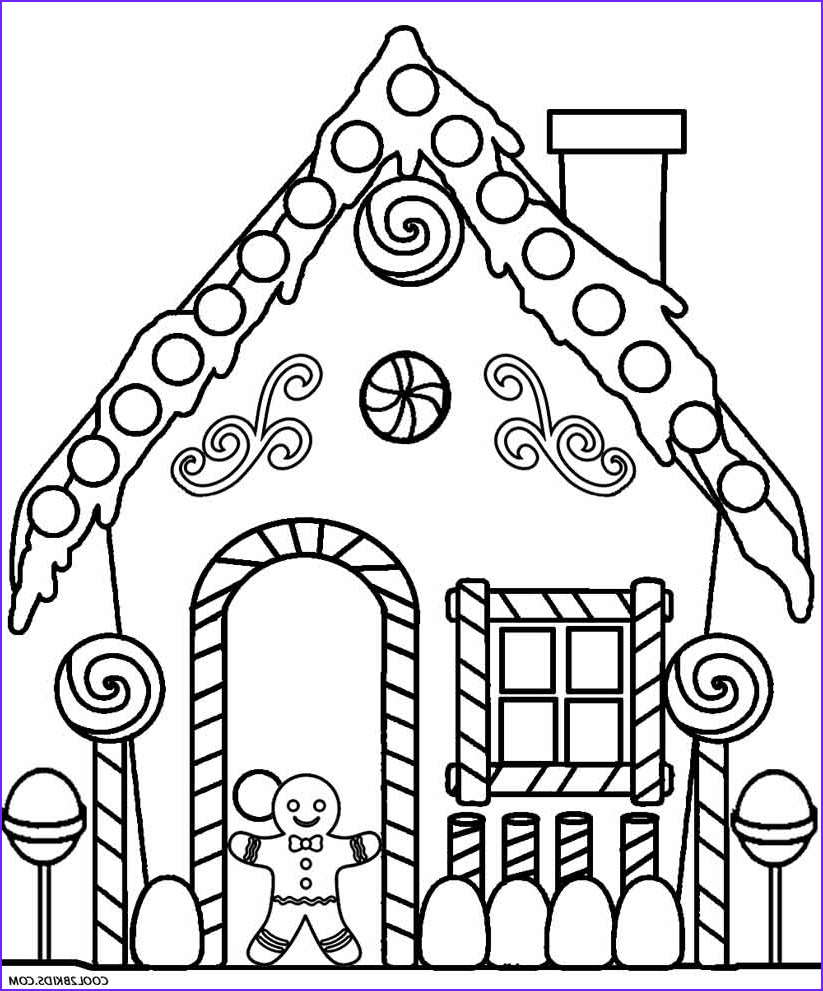 Gingerbread Houses Coloring Sheet Beautiful Photos Printable Gingerbread House Coloring Pages for Kids