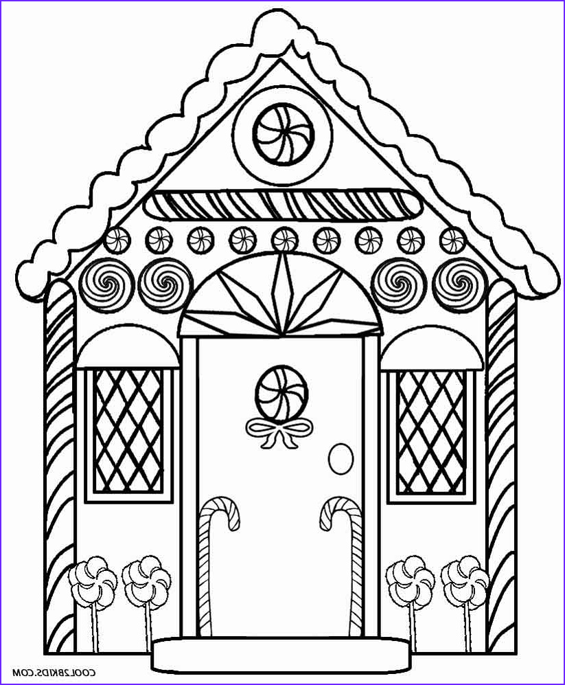 Gingerbread Houses Coloring Sheet Luxury Collection Printable Gingerbread House Coloring Pages for Kids