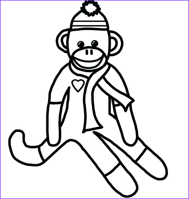 Girl Monkey Coloring Page Beautiful Stock Baby Girl Monkey Coloring Pages at Getcolorings
