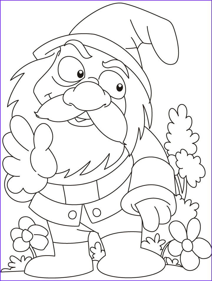 Gnome Coloring Page Beautiful Photography Gnome Printable Coloring Pages