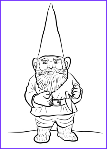 Gnome Coloring Page Elegant Photos Garden Gnome Coloring Page