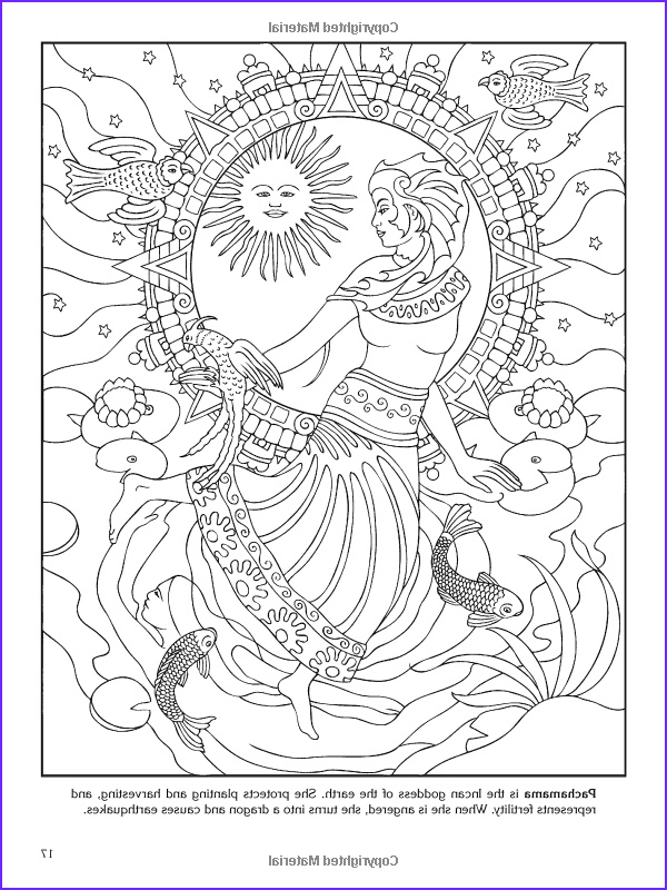 Goddess Coloring Page Awesome Images Goddesses Coloring Book Dover Coloring