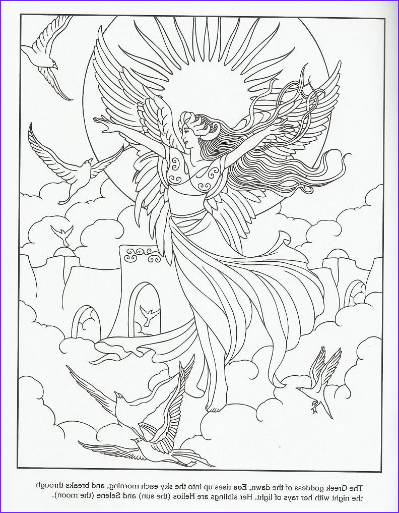 Goddess Coloring Page New Images Eos Greek Goddess Of the Dawn
