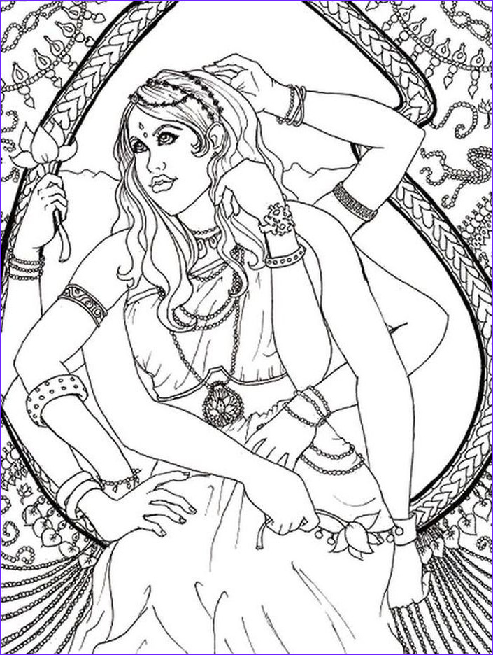 Goddess Coloring Page Unique Images Hindu Goddesses Coloring Pages Sketch Coloring Page