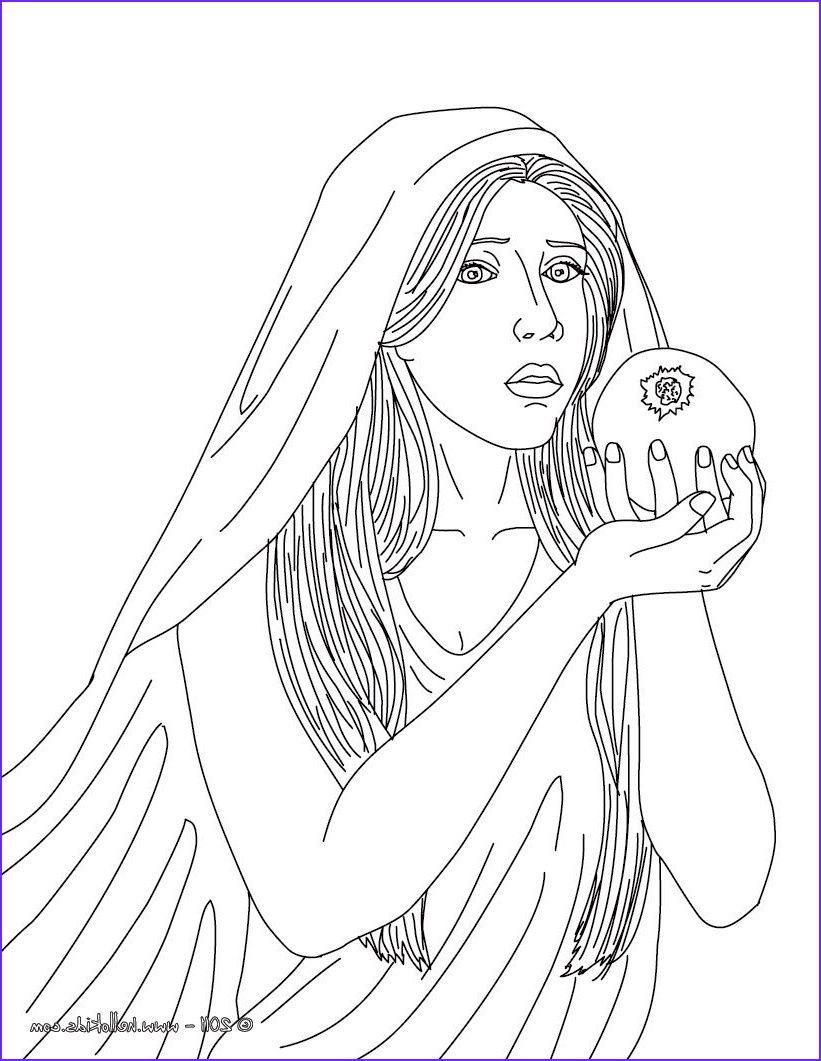 Goddesses Coloring Book Awesome Photos Greek Goddesses Coloring Pages Persephone the Greek