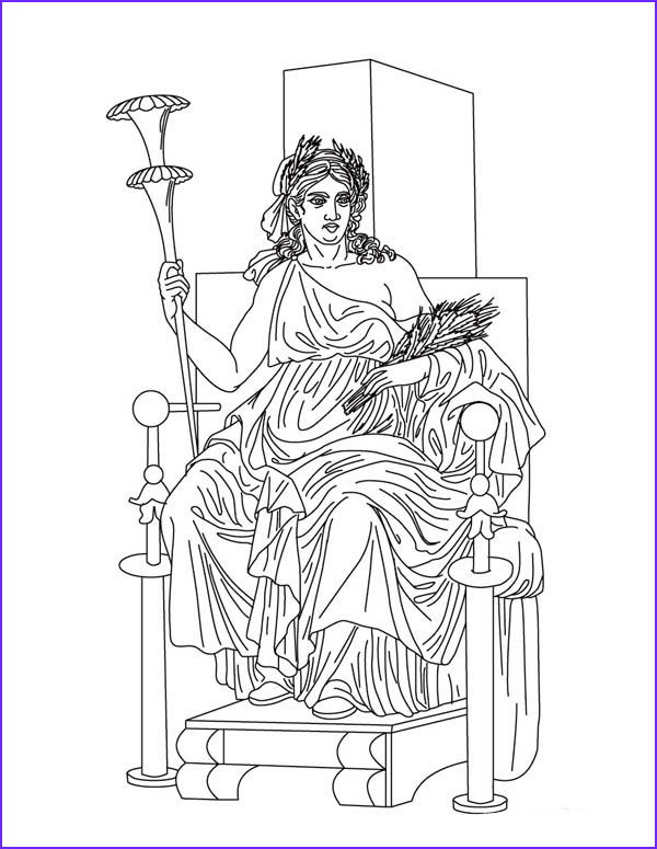 Goddesses Coloring Book Beautiful Photos Demeter From Greek Gods and Goddesses Coloring Page Netart