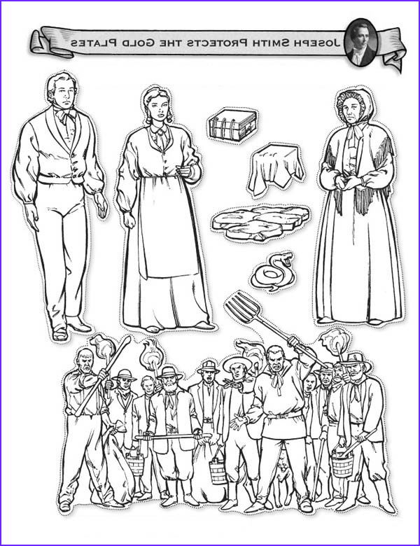 Golden Plates Coloring Page Cool Images Joseph Smith Protects the Golden Plates Coloring Page Netart