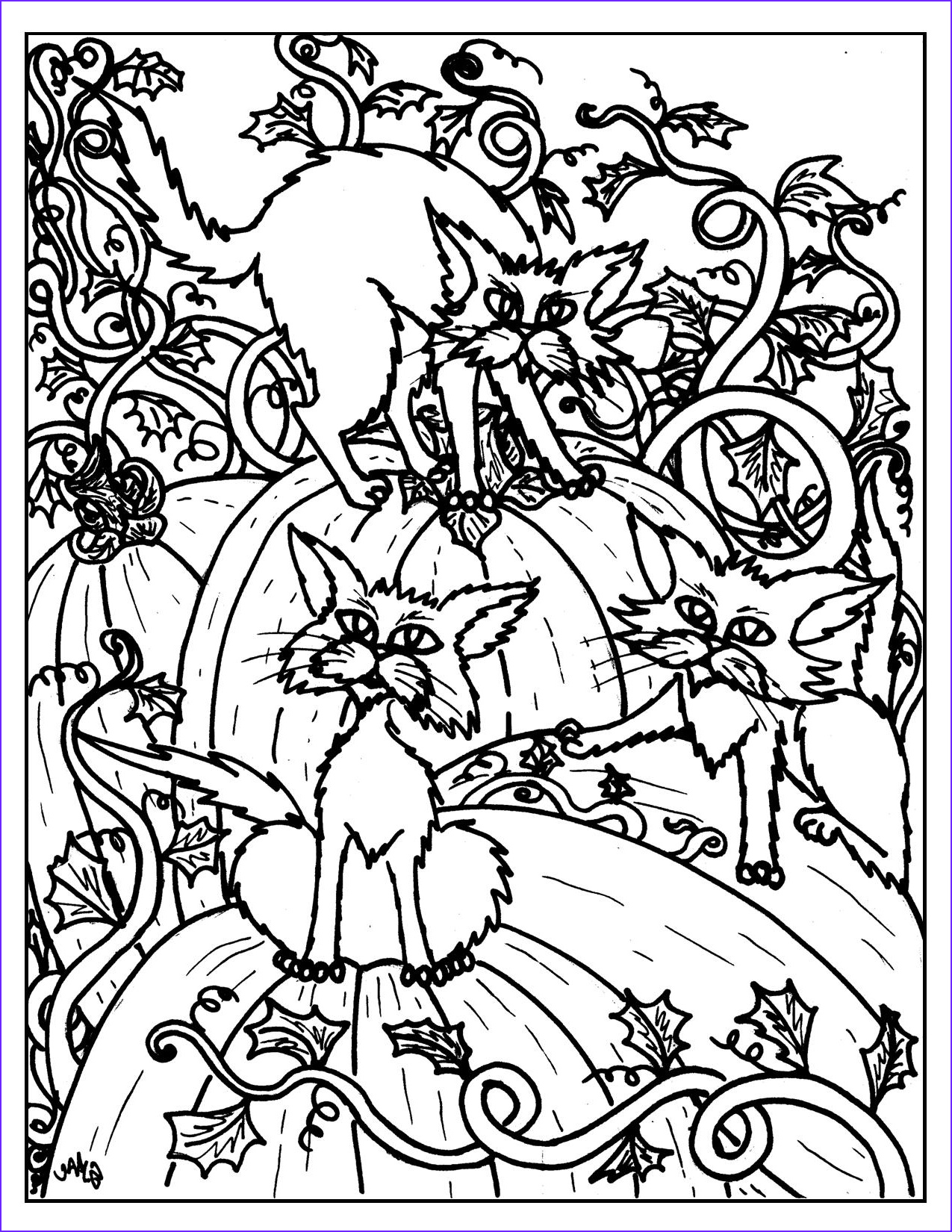 Halloween Adult Coloring Page Best Of Gallery Halloween Coloring Pages – S Mac S Place to Be