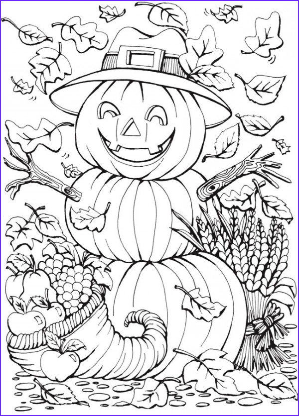 Halloween Adult Coloring Page Luxury Collection 6 Fall Coloring Pages – Stamping