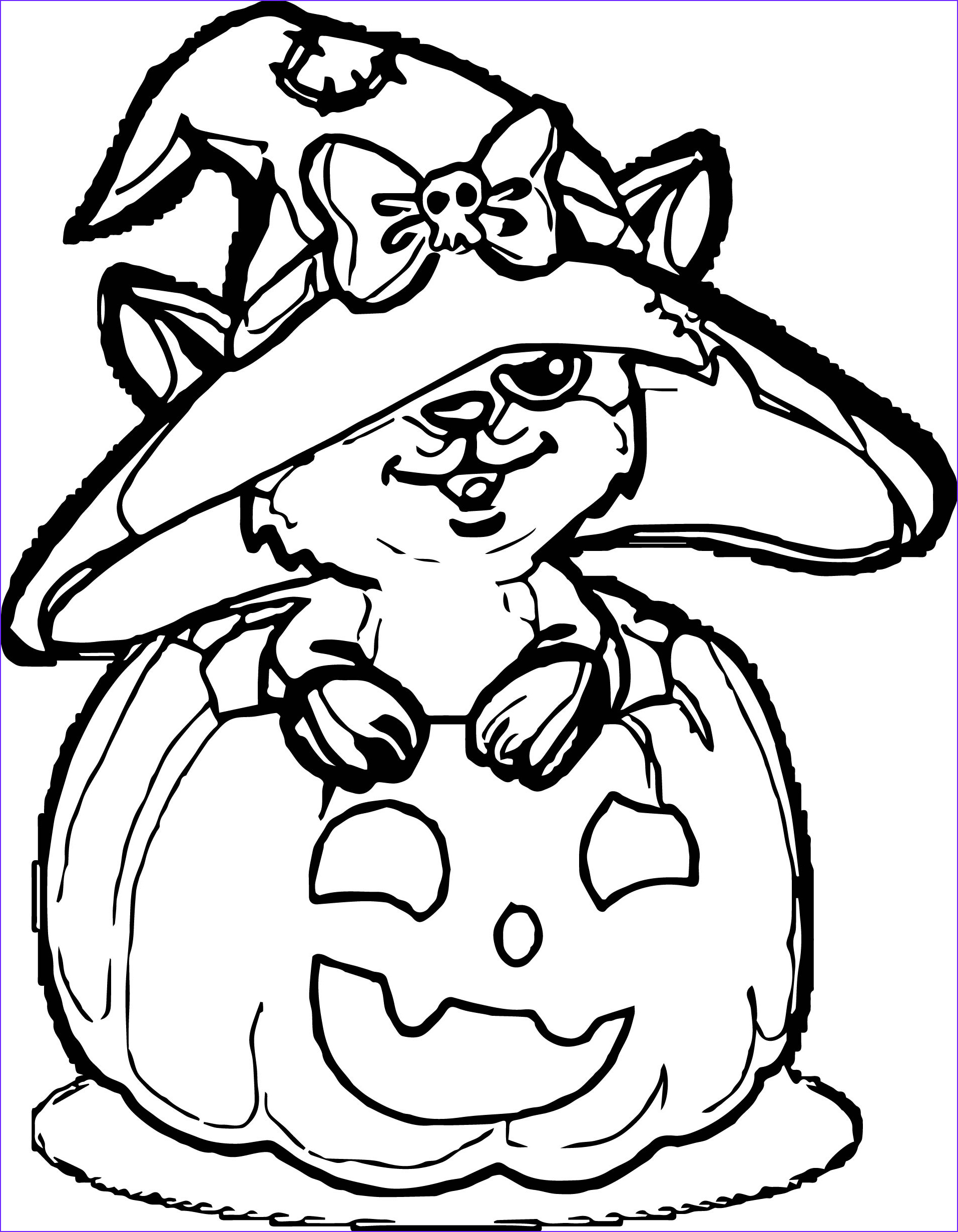 cute owl halloween children coloring page
