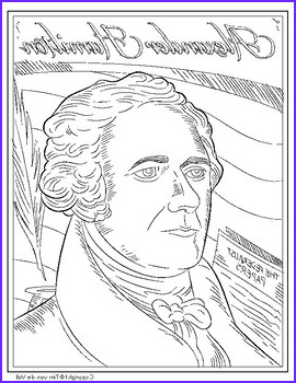 Alexander Hamilton Coloring Page Color the Famous Founding Father