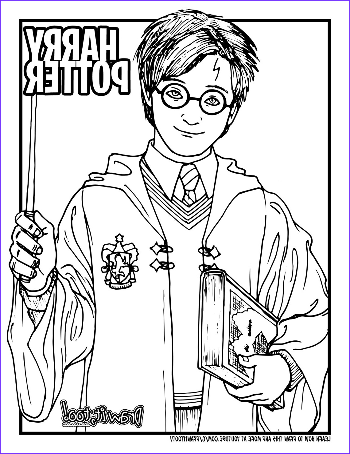 how to draw harry potter harry potter movie series drawing tutorial